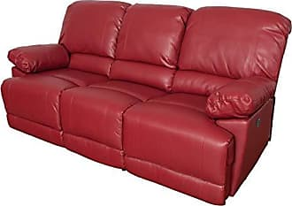 CorLiving LZY-352-S Lea Collection Reclining Sofa Red