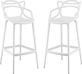 ModWay Modway Entangled Bar Stool (Set of 2), White