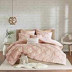Urban Habitat Talia Comforter Set Full/Queen Size Bed in A Bag - Blush Pink, Pintuck - 7 Piece Bed Sets - Ultra Soft Microfiber Teen Bedding for Girls Bedroom