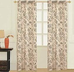 United Curtain FIO95TAU Fiona Window Curtain Panel Pairs, 74 x 95, Taupe