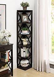 Convenience Concepts Oxford 5-Tier Corner Bookcase, Espresso