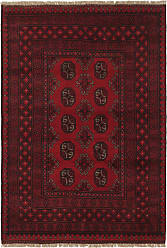 Nain Trading Oriental Rug Afghan Akhche 410x35 Dark Brown/Dark Red (Wool, Afghanistan, Hand-Knotted)