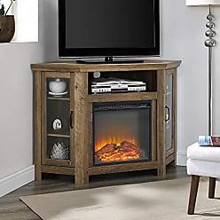 Walker Edison WE Furniture AZ48FPCRRO Fireplace Stand, Rustic Oak