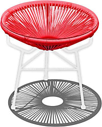 Harmonia Living Outdoor Harmonia Living Acapulco Patio Round Side Table Candy Apple - HL-ACA-ST-CAW