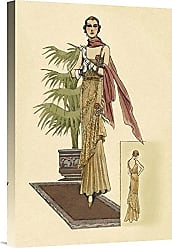 Bentley Global Arts Global Gallery Budget GCS-379262-22-142 Vintage Fashion Summer Dress with Pink Gallery Wrap Giclee on Canvas Wall Art Print