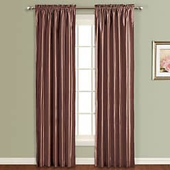 United Curtain Anna Window Curtain Panel, 54 by 84-Inch, Chocolate
