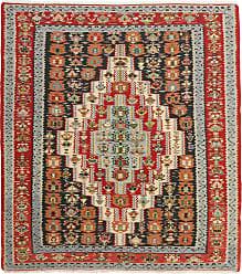 Nain Trading Kilim Senneh Rug 410x44 Brown/Orange (Iran/Persia, Wool, Hand-Knotted)
