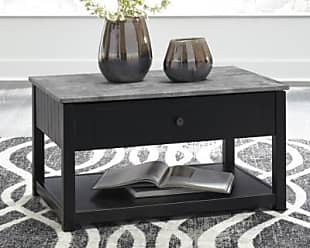 Ashley Furniture Ezmonei Coffee Table with Lift Top, Black/Gray