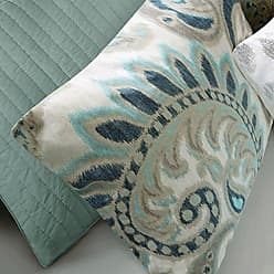 Ink + Ivy Ink+Ivy Mira Duvet Cover Full/Queen Size - Teal, Paisley Duvet Cover Set - 3 Piece - 100% Cotton Light Weight Bed Comforter Covers