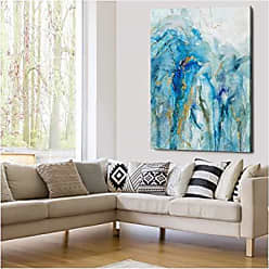 WEXFORD HOME Abstract Lapis - Gallery Wrapped Canvas Art Print, 16x16, Love Conquers