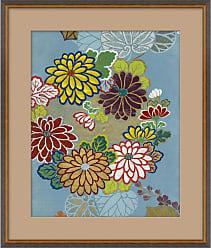 1stdibs Blue Floral Iii Japanese Print By Curatedkravet