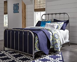 Ashley Furniture Nashburg Full Metal Bed, Silver