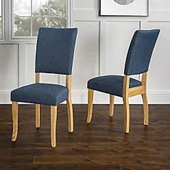 Walker Edison WE Furniture AZH40OBP2BU Dining Chair, Set of 2, Blue