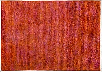 Solo Rugs Vibrance Hand Knotted Area Rug 4 x 5 8 Orange