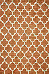 Momeni Rugs GEO00GEO-4PUM7696 Geo Collection, Hand Hooked Contemporary Area Rug, 76 x 96, Pumpkin Orange
