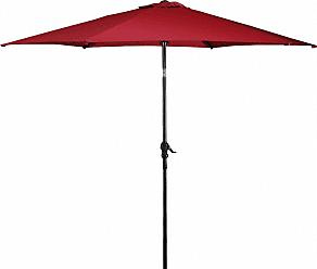 Overstock Costway 10FT Patio Umbrella 6 Ribs Market Steel Tilt W/ Crank Outdoor Garden Burgundy