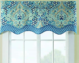 Ellery Homestyles WAVERLY Moonlit Shadows Window Valance, 52x18, Lapis