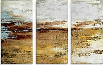 WEXFORD HOME Golden Twilight 3 Panel Gallery Wrapped Canvas Wall Art, 40x60