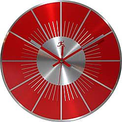 Infinity Instruments Red L.P. 12 Metal Wall Clock