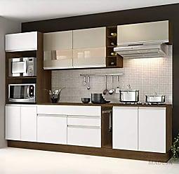 Madesa Cozinha Completa 7 peças Vicenza Glamy Madesa Rustic/Branco/Bp Bronze