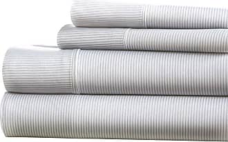 Noble Linens Premium Ultra Soft Pinstriped Pattern Sheet Set by Noble Linens, Size: Queen - NL-4PC-PIN-Q-LG