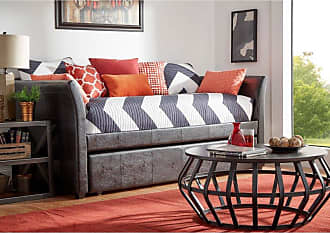 Weston Home Emily Twin Faux Leather Daybed Cool Gray - 684956PUG-[BD]C