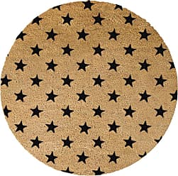 Artsy Doormats Stars Door Mat - Round