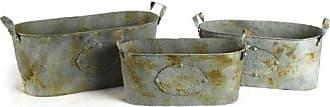 Zentique Zentique Metal Oval Bucket, Set of 3