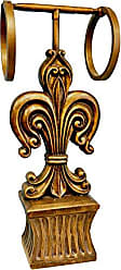 Hickory Manor House Fleur de lis Standing Double Towel Holder, Gold Wash