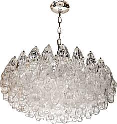 VENINI Modernist Handblown Translucent Murano Glass Polyhedral Chandelier