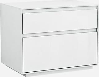 Whiteline Modern Living Malibu 2 Drawer Nightstand - NS1367-WHT