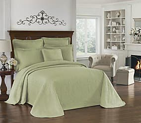 Ellery Homestyles Historic Charleston Bedspreads Coverlet - King Charles Collection 120 x 114 Size 100% Cotton Oversized Matelasse Bed Spread, King/Cal King, Sage