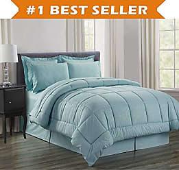 Elegant Comfort Luxury Bed-in-a-Bag Comforter Set on Amazon! Elegant Comfort Wrinkle Resistant - Silky Soft Beautiful Design Complete Bed-in-a-Bag 8-Piece Comforter Set -Hypoallergenic- Full/Queen, Turqouise