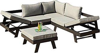 Greemotion 128510 Lounge Set Aluminium Panama Alu Loungeset 3 Teilig Für  Garten U0026 Terrasse