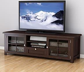 CorLiving B-098-BAT Arbutus 63 in. Wood Veneer TV Bench - Dark Espresso - TAB-890-B