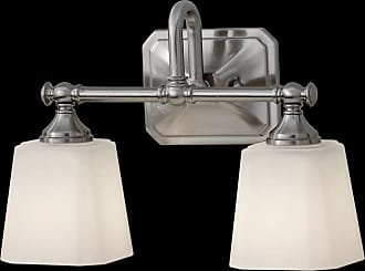 Feiss VS19702-BS Concord Vanity Fixtures in Brushed Steel finish with White Opal Etched Glass