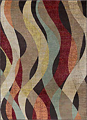 Tayse Willow Transitional Abstract Brown Rectangle Area Rug, 5 x 7