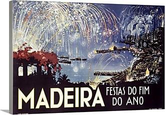 Great Big Canvas Madeira Festas do Fim Do Ano Canvas Wall Art Print - AH3159-FIN_24_24X16_NONE