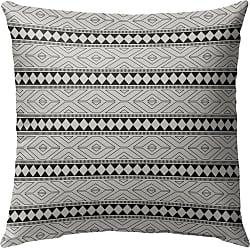 Kavka Designs Marrakesh Pattern Outdoor Pillow Black/Gray - OPI-OP16-16X16-MGT2018