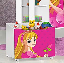 J&A Moveis Caixa Organizadora Brinquedos de Criança Jade Cor Branca