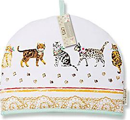 Cooksmart Sottobicchieri con Motivo di Gatti Multicolore Confezione di 4