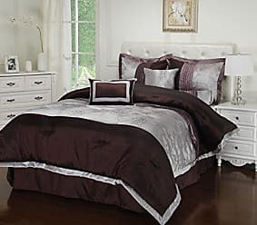 Home City Inc. Impressions 7-Piece Luxurious Comforter Set, California King, Kashmir