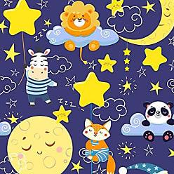 Lar Adesivos Papel de Parede Infantil Estrelas Adesivo Lavável N4173