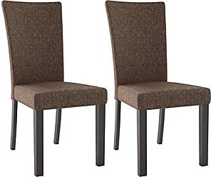CorLiving DRC-895-C Bistro Dining Chairs, Cappuccino, Chestnut Bark