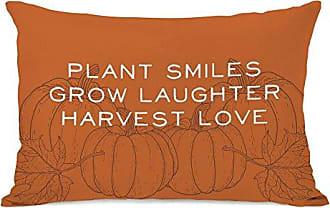 One Bella Casa Harvest Love Throw Pillow by OBC, 14x 20, Orange