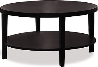 Office Star Ave Six Merge Round Coffee Table, 36-Inch, Espresso
