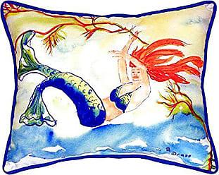 Betsy Drake SN373B Resting Mermaid Pillow, 11 x14