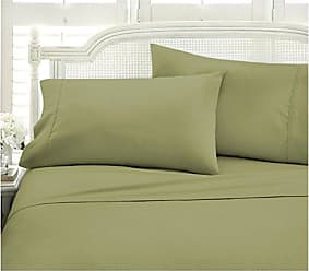 iEnjoy Home Becky Cameron 4 Piece Sheet Set Embossed Chevron, Twin, CHEV SAGE