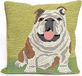 Liora Manne 7FP8S156706 1567/06 Wet KISS Throw Pillow, 18 X 18, Bull Dog-Green