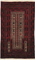 Nain Trading Baluch Rug 49x34 Dark Grey/Dark Brown (Afghanistan, Hand-Knotted, Wool)